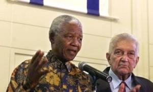 Mandela and Weitzman in Israel - Israel Apartheid Week
