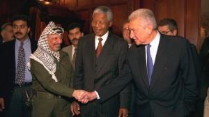 Yasser Arafat and Nelson Mandela